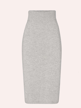 PURE CASHMERE KNITKED SKIRT
