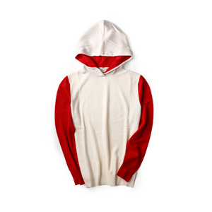 12GG PURE CASHMERE HOODIE IN CONTRAST COLORS