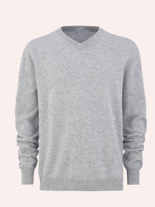 MEN'S PURE CASHMERE V NECK SWEATER
