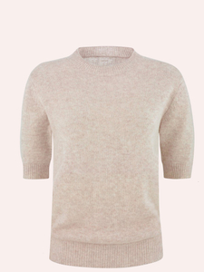 cashmere T shirt with short sleeves